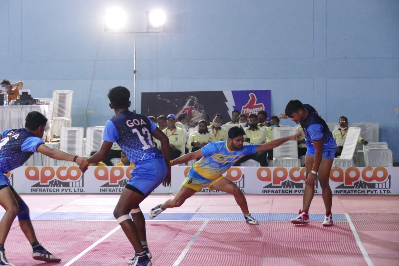 Karnataka and Rajasthan hold their nerves to emerge victorious in close encounters on Day 1 of 68th Senior National Kabaddi Championship! || Day 1 Results Summary