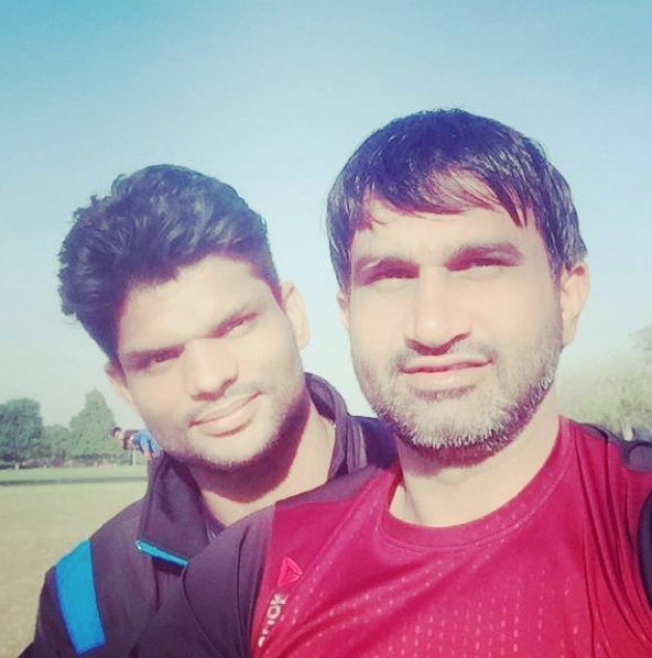 Amit with Joginder Narwal