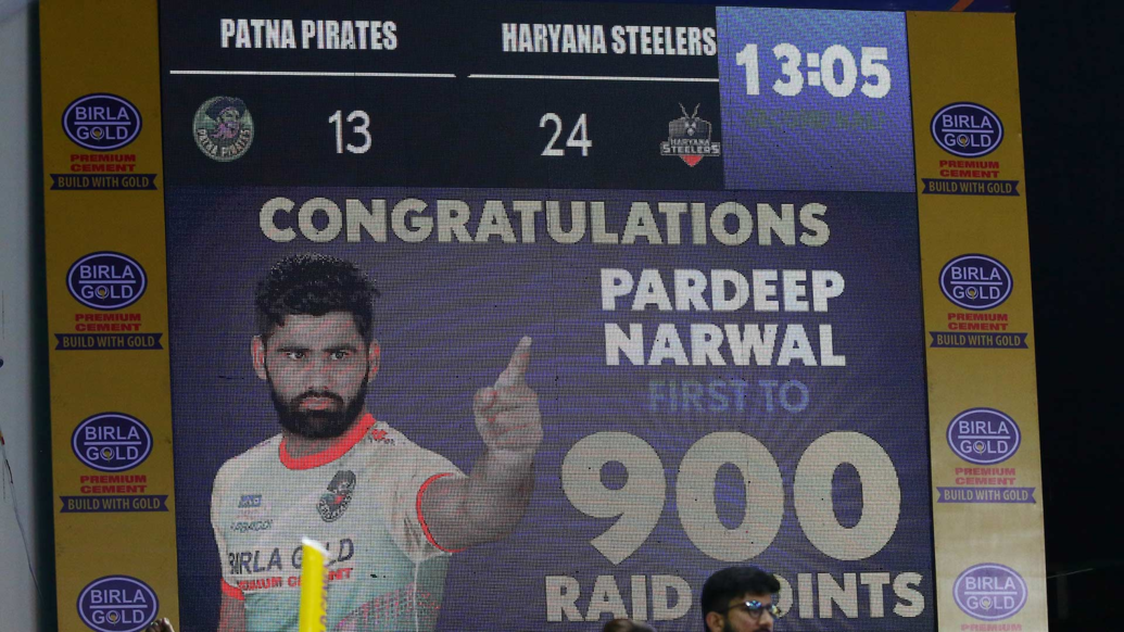 Pardeep Narwal making new records in PKL