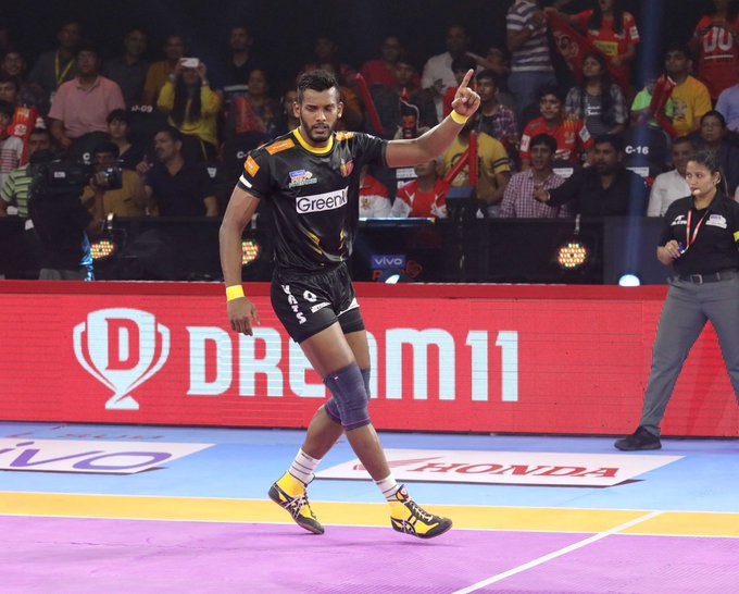 Siddharth Desai after picking up a point in the match
