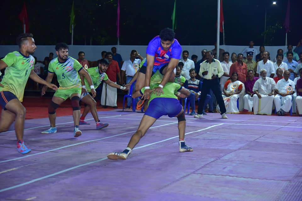 Kollam tournament match scene
