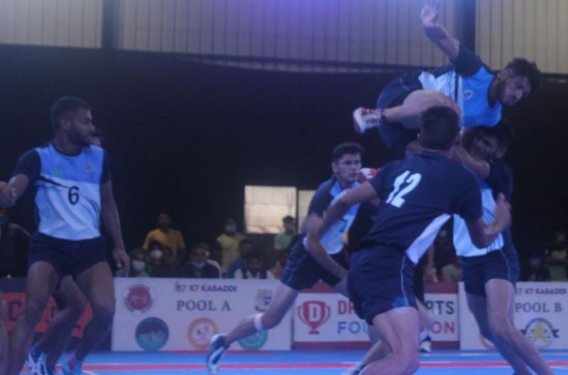 Meetu in action during Bhaini School vs Chhaju Ram Kabaddi Academy