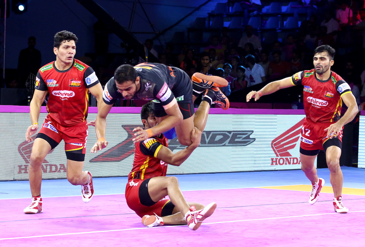 Abhishek singh against Bengaluru Bulls