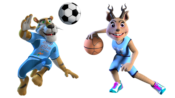 Mascots of Khelo India Games