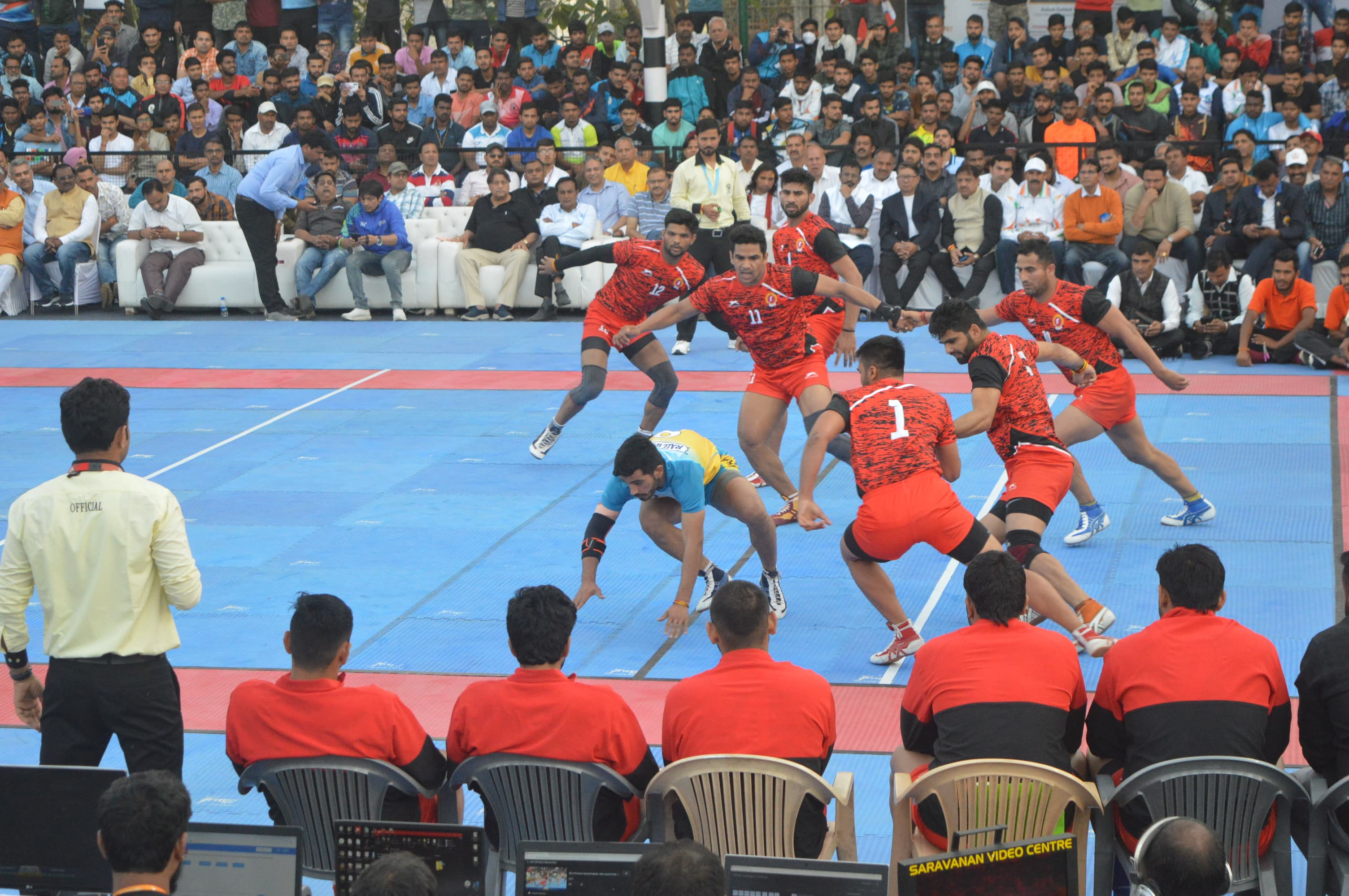 Vikas Khandola performing a successful raid