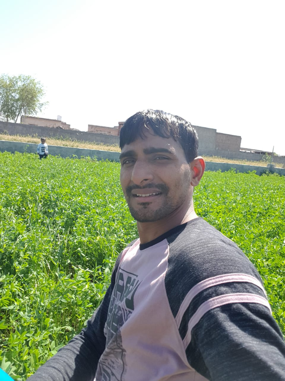 Surender Nada in his farm