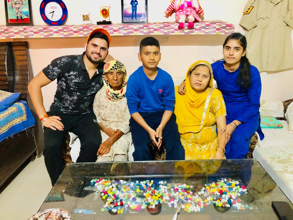Baldev Singh with his family
