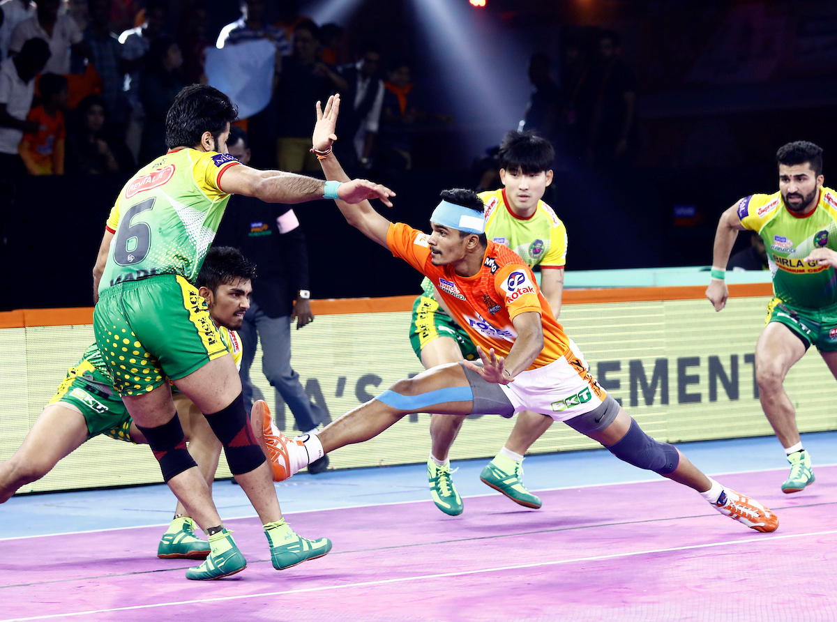 Patna Pirates against Puneri Paltan