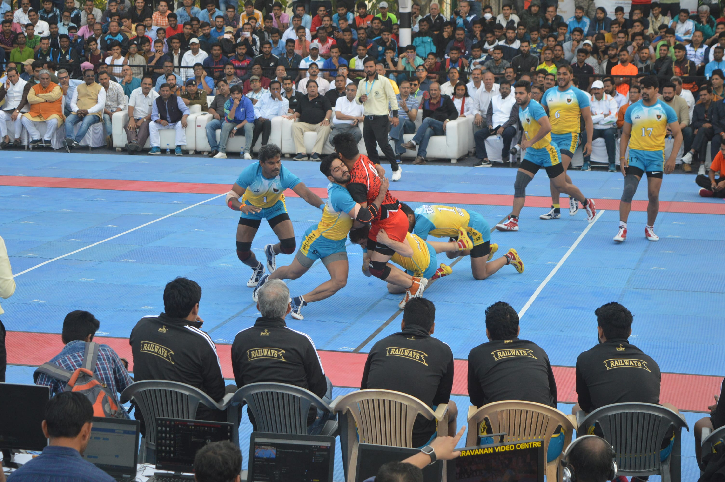 A still from the 67th Senior National Kabaddi Championships
