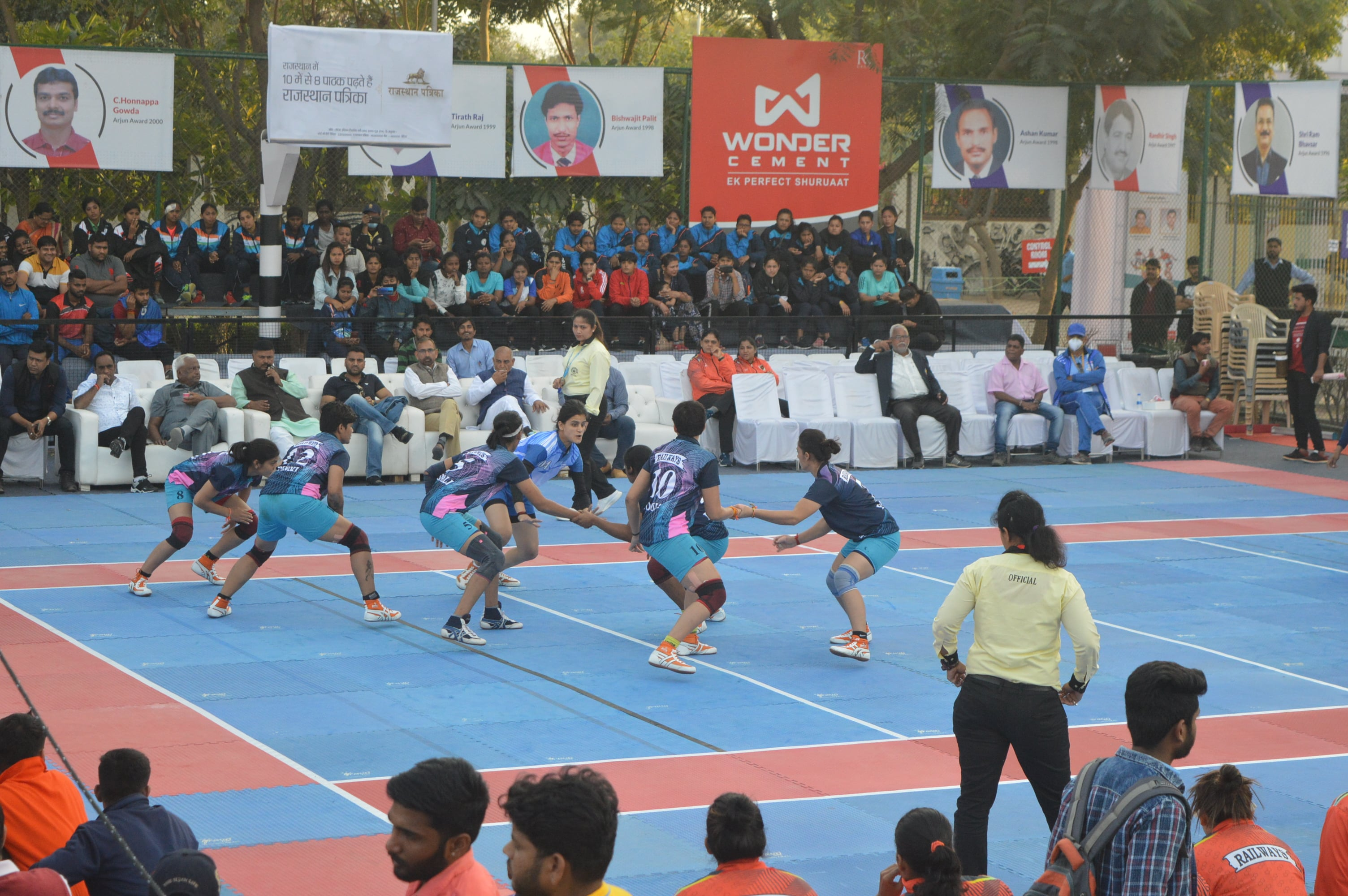 A still from the 67th Senior National Kabaddi Championships' female match