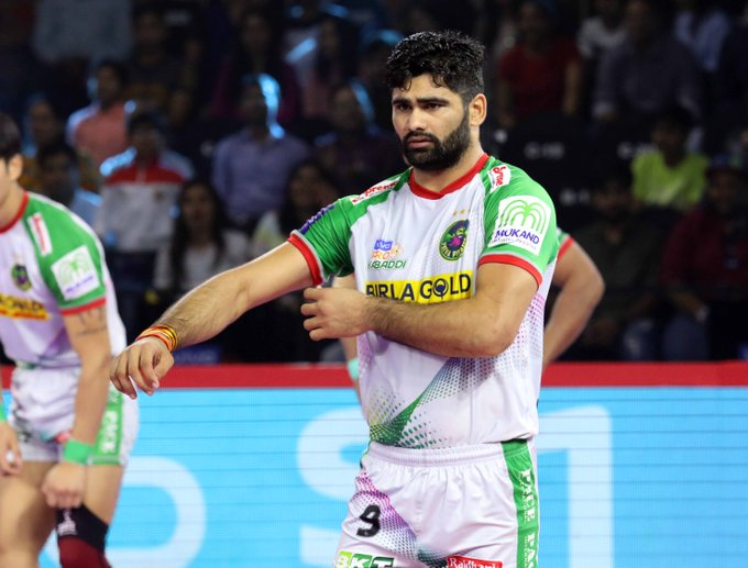 Pardeep Narwal tensed at the end of the first half