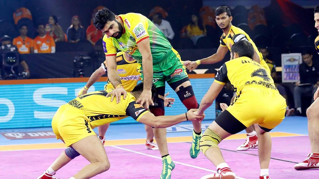 Pardeep Narwal in action.