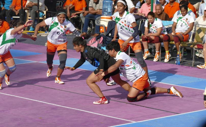 Pinky Roy in action during Senior National 2020 representing Indian Railways