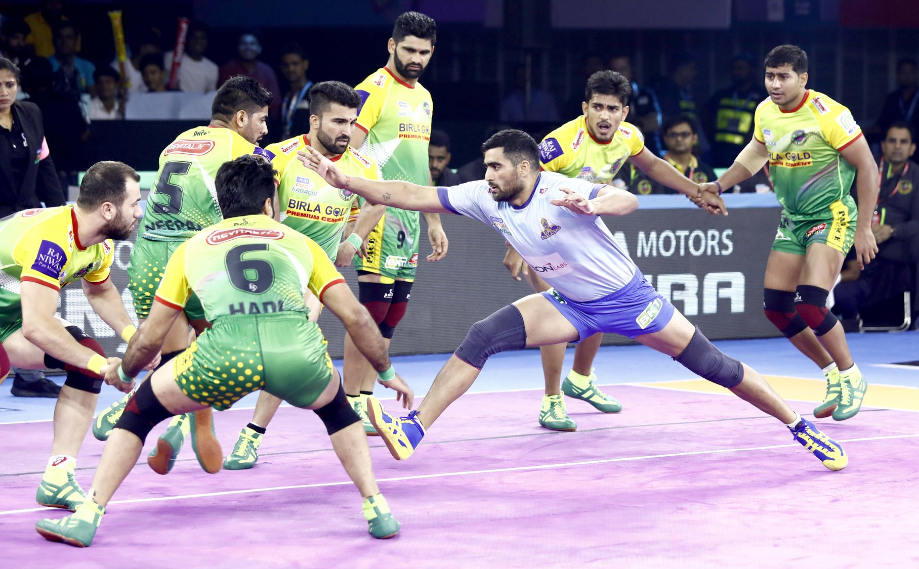 Rahul Chaudhari against Patna Pirates