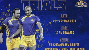 Tamil Thalaivas Academy Trials May 2019