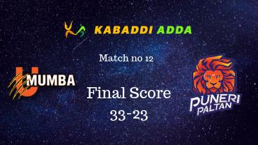 Pro Kabaddi live commentary U Mumba vs Puneri Paltan