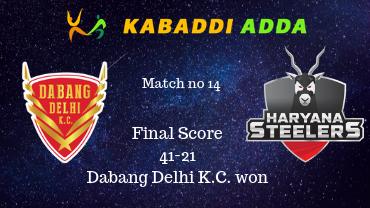 Pro Kabaddi Live Delhi vs Haryana