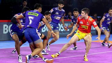 Gujarat Fortunegiants against Haryana Steelers