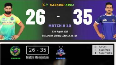 Pro Kabaddi Live Patna Pirates vs Haryana Steelers