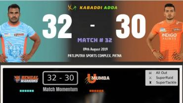 Pro Kabaddi Live Bengal Warriors vs U Mumba
