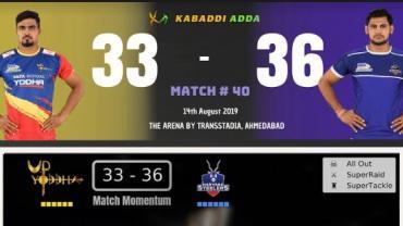 Pro Kabaddi live UP vs Haryana