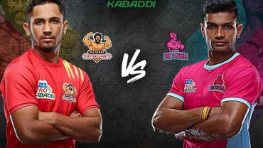 Pro Kabaddi Live Gujarat Fortunegiants vs Jaipur Pink Panthers