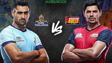 Pro Kabaddi Live Tamil Thalaivas vs Bengaluru Bulls