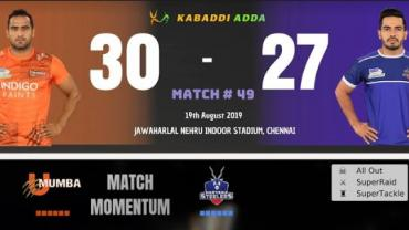 Live Pro Kabaddi U Mumba vs Haryana Steelers