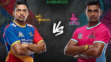 Pro Kabaddi Live UP Yoddhas vs Jaipur Pink Panthers