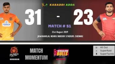 Pro Kabaddi Live Puneri Paltan vs Bengaluru Bulls
