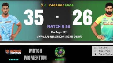 Pro Kabaddi Live Bengal Warriors vs Patna Pirates