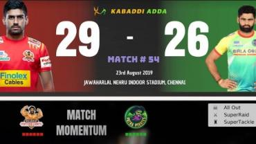 Pro Kabaddi Live Gujarat FortuneGiants vs Patna Pirates