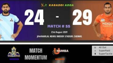 Pro Kabaddi Live Tamil Thalaivs vs U Mumba