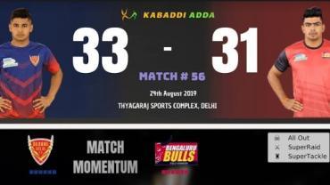 Dabang Delhi vs Bengaluru Bulls Pro Kabaddi Live