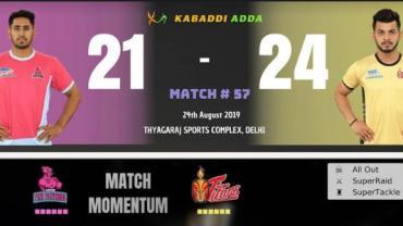 Pro Kabaddi live Jaipur Pink Panthers vs Telugu Titans