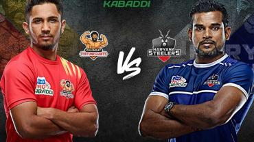 Pro Kabaddi Live Gujarat FortuneGiants vs Haryana Steelers