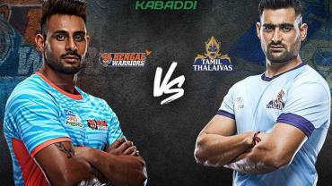 Pro Kabaddi Live Bengal Warriors vs Tamil Thalaivas