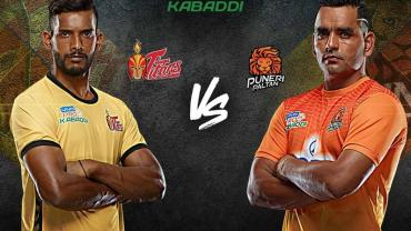 Telugu Titans is playing against Puneri Paltan