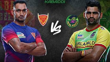 Dabang Delhi is playing against Patna Pirates