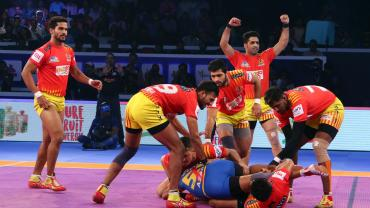 Gujarat Fortunegiants against Patna Pirates