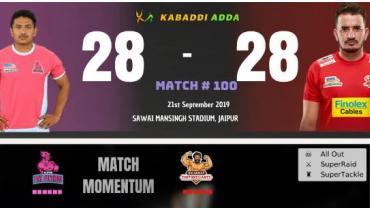 PKL7 Match 100 JP vs GJ