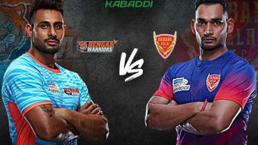Bengal Warriors is playing against Dabang Delhi