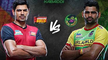 Bengaluru Bulls is playing against Patna Pirates