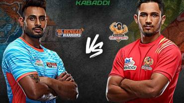 Bengal Warriors is playing against Gujarat Fortunegaints