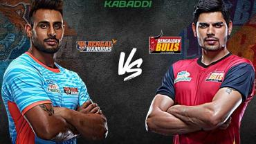 Bengal Warriors is playing against Bengaluru Bulls