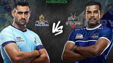 Tamil Thalaivas is playing against Haryana Steelers
