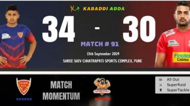 Dabang Delhi is playing against Gujarat Fortunegaints