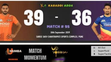 U Mumba is playing against UP Yoddhas
