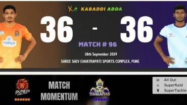Puneri Paltan is playing against Tamil Thalaivas