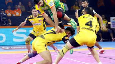 Pardeep Narwal against Telugu Titans